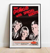 More details for the police vintage concert poster, sting poster, the police poster, wall art