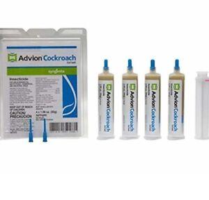 Syngenta Advion Cockroach Gel Bait- 4 Syringes, 1 Plunger