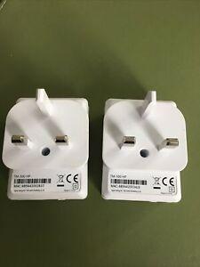 Set of 2 Technomate TM 500 HP Powerline Ethernet Adapter Homeplug Wifi Extender