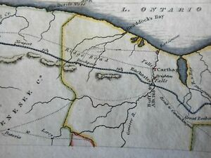 Genesee County New York Carthage Rochester Braddock's Bay 1826 Hooker mini map