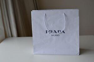 Prada Designer  Gift Bag, White Shopping Paper Bag  36 x 35cm