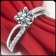 0.60CT Synthetic Diamond Solid Platinum PT950 Engagement Wedding Ring White Gold