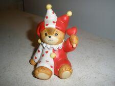 Enesco Lucy & Me Valentine Jester Clown Bear 1984