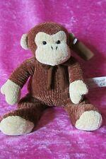 "Anna Club Plush Leather Tag Line ~ CORDUROY CHIMP MONKEY ~ 8"" Soft Plush Toy"
