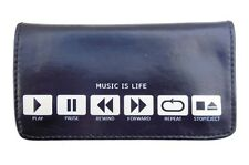 Tobacco Case Pouch Synthetic Leather Wallet Bag Rolling Smoke Music