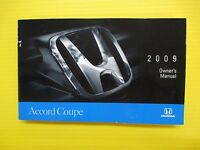 Accord Coupe 09 2009 Honda Owners Owner's Manual All Coupe Models