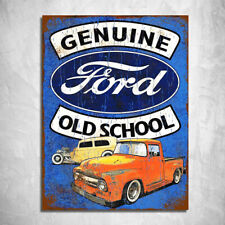 metal sign plaque vintage retro style Ford old school image garage tin 20 x 15cm