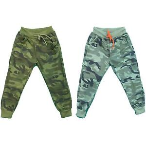 Boys Kids Camo Camouflage Jogging Sports Tracksuit Bottoms Joggers Fashion