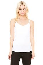 Bella+Canvas 960 Women's Ladies Cotton Spandex Shelf Bra Tank White S-2XL