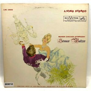 Vintage VINYL RECORD Strauss Waltzes Reiner Chicago Symphony No Reserve