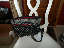 vera bradley small Paddy bag in retired Classic Black patern