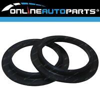 2x Rear Rubber Coil Spring Seat Insulators suits Nissan Patrol GQ Y60 GU Y61 GR