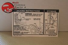67 68 69 70 71 72 Chevy Truck Jack Instructions Decal