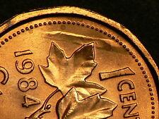 Canada, 1984 Unc. Cent,  Defect in Planchet Error #G3384