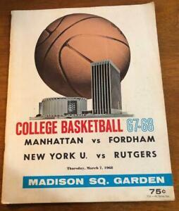1967-68 College Basketball Final Four Program #1 Vol 1 Walt Frazier Lou Alcindor