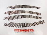 CB6-1# 4x Roco H0/DC Bastler-Bogenweiche ohne Bettung: BWl 9/10 + BWr 9/10