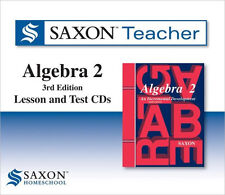 Saxon Teacher Homeschool Algebra 2 3rd Edition Lesson & Test CDs NEW!