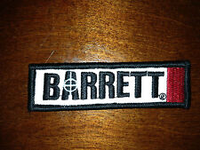 BARRETT FIREARMS LOGO CLOTH PATCH GUN 50BMG RIFLE AR TACTICAL DECAL MRAD
