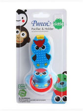 OWL PUREEN SKITTLE SOOTHER PACIFIER&HOLDER,BABY BPA FREE 6 M FREE SHIPPING