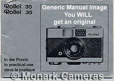 Rollei Prego & Xenar AF Camera Instruction Manual, More User Guide Books Listed