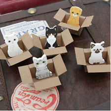 5PCS New Cute Carton Cats House Sticker Post Bookmark Mark Memo Sticky Note Gift