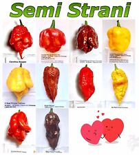 100 Seeds of 10 Hottest Chili Peppers of World, Fire Collection Carolina Reaper