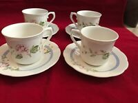 Lenox Fine China Melanie Set of 4 Cup and Saucer USA