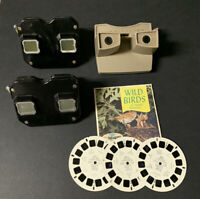 Vintage 1940's-1950's SAWYERS View Master ~ Lot of 3 &  3 Reels Wild Birds