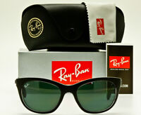 NEW RAY-BAN RB4216 6052/71 SUNGLASSES Matte Black Crystal Classic Green 56mm