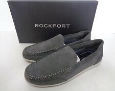 Rockport Veneciano Para hombres Cuero Mocasines De Ante Gris Rrp £ 80 Nuevo Tallas 8 & 9