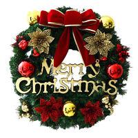 30CM Christmas Tree Wreath Window Door Hanging Garland Wall Ornament Xmas Decor