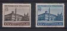 1954 ITALIA 25°Anniversario Patti Lateranensi MNH ** L25 + 60 Perfetti Ss 733-4