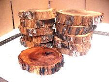 "MOUNTAIN MAHOGANY 10"" 12"" Log Slices Wood Disk Wedding Centerpiece Coaster Decor"