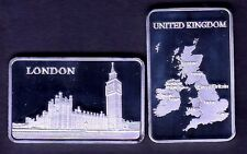★★★★★ JOLI LINGOT PLAQUE ARGENT ● LONDRES / LONDON BIG BEN UK ★★★★★