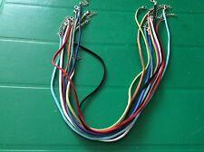 Assorted Faux suede necklace x 10 app 2mm wide x app 46cm long + extender chain