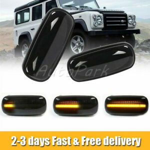 2X LED Side Repeater Indicator Light Dynamic Fit Land Rover Discovery Defender