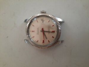 Vtg BULOVA Oceanographer Automatic Watch Wristwatch 10K Gold Ring 333 Ft. Swiss