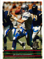 Rick Mirer Seattle Seahawks QB SIGNED autographed card Notre Dame 1996 Topps