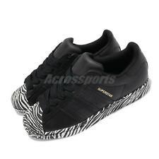 Adidas Originals Superstar W Зебра черное золото белая женская повседневная обувь FV3448