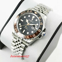 PARNIS 40mm Self Winding Men Watch Date Window Sapphire Glass GMT Function