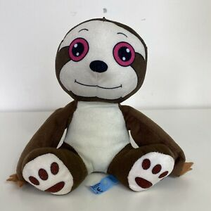 Kids Babies Brown Happy Smiling Love Small Soft Plush Sloth Cuddly Toy 20cm