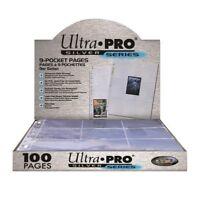100 feuilles classeur ULTRA PRO SILVER pour carte à jouer standard pokémon magic