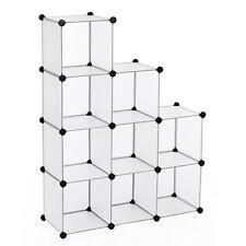 Songmics Commode Cubes/étagère de Rangement modulables plastiques Cadre en Métal