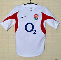 ENGLAND NATIONAL TEAM PLAYER ISSUE RUGBY UNION HOME SHIRT NIKE SIZE M ADULT