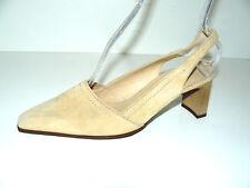 HÖGL beige Wildleder Slingbacks Pumps Damen Schuhe 38,5 UK 5,5 elegant NEU