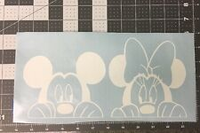Peeking Mickey and Minnie Mouse Set Disney Vinyl Decal Car Window