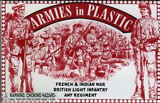 Armies in Plastic French & Indian War British Light Infantry 1/32 Scale 54mm