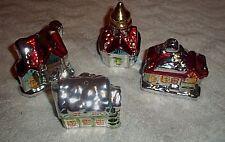 4 Vintage Glass CHRISTMAS XMAS Holiday ORNAMENT #7
