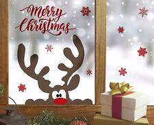 Fenstersticker Wandsticker Aufkleber Elch Rentier Weihnachten Fenster Wand Deko