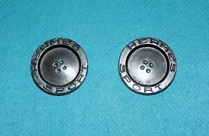 2 boutons vintage HERMES SPORT en métal dimensions 2,5 cm